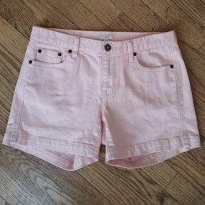 J Crew Stretch Light Pink Denim Shorts